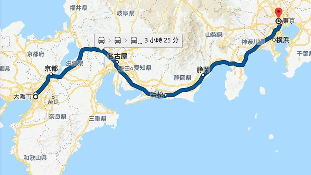 交通比較!從東京到大阪日夜間行程對決