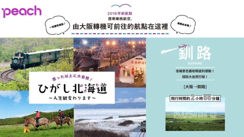 [北海道東部] 樂桃航空新航線:釧路=大阪(関西)