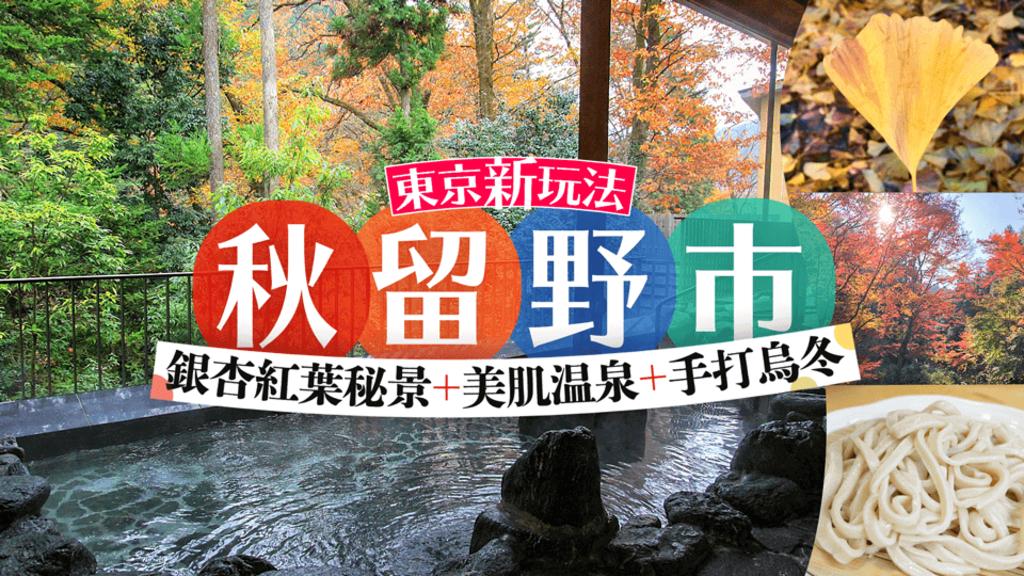 [東京新玩法]秋留野市銀杏紅葉秘景+美肌溫泉+手打烏冬