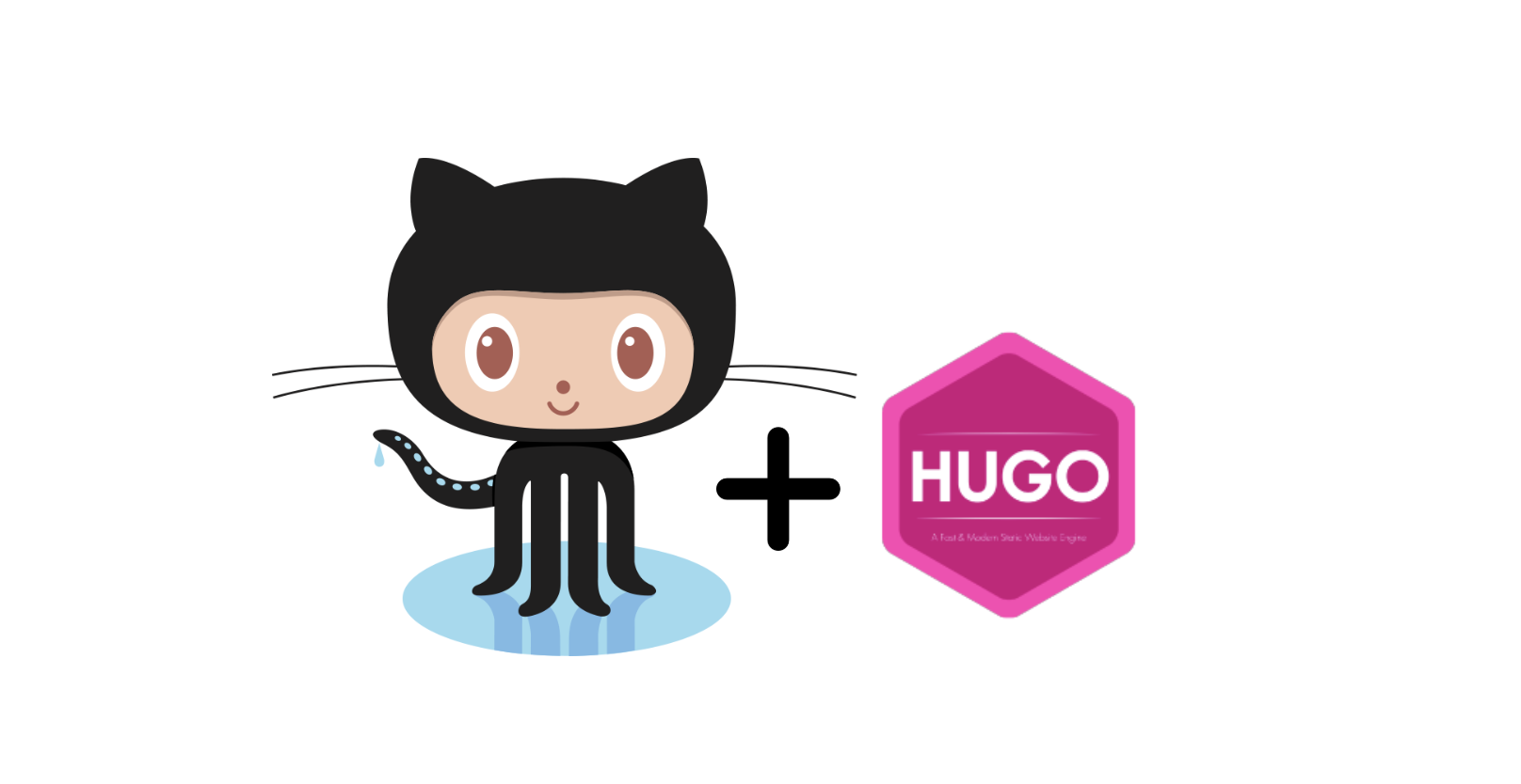 1-GitHub plus Hugo logos