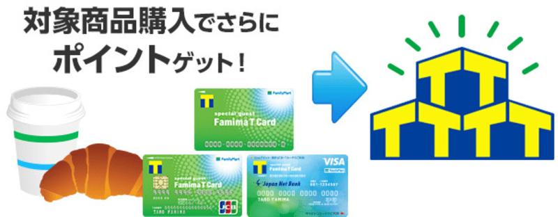 Tポイントプラスの対象商品を購入する場合、ファミマTカードまたはTカードを提示するとポイントがお得に貯まります。