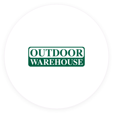 Outdoor Warehouse client badge