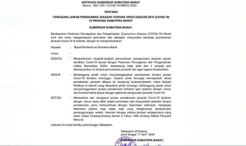 #berita sumbar, #Koronavirus Limbago.id