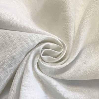 Linen Fabric White
