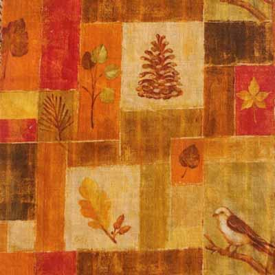 Flax linen Blend printed fabric