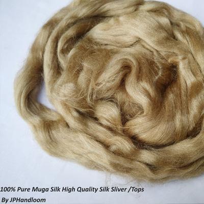 Muga Silk Sliver-Tops