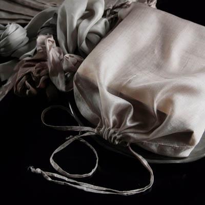 Tussar silk string bag