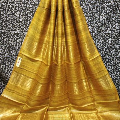 Handloom saree (yellow)