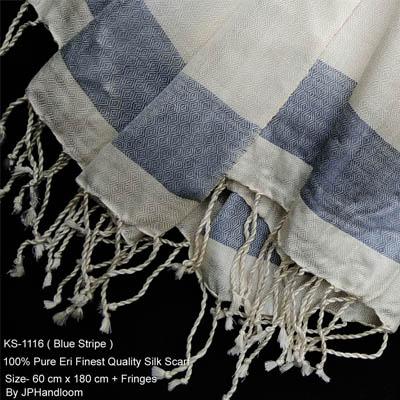 Yarn Dyed Scarf  (Blue Stripe)