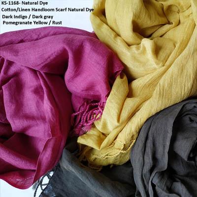 Linen Scarf natural Dye