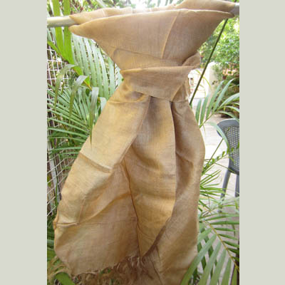Muga silk scarf