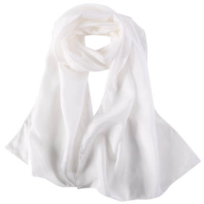 Mulberry Crepe Satin Scarf Undyed