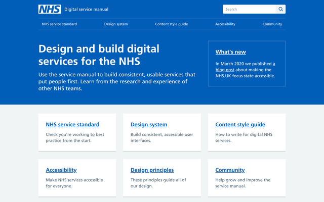 NHS Digital service manual