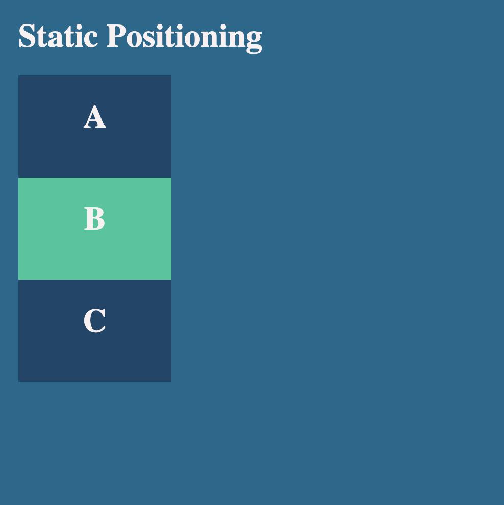 Static positioning