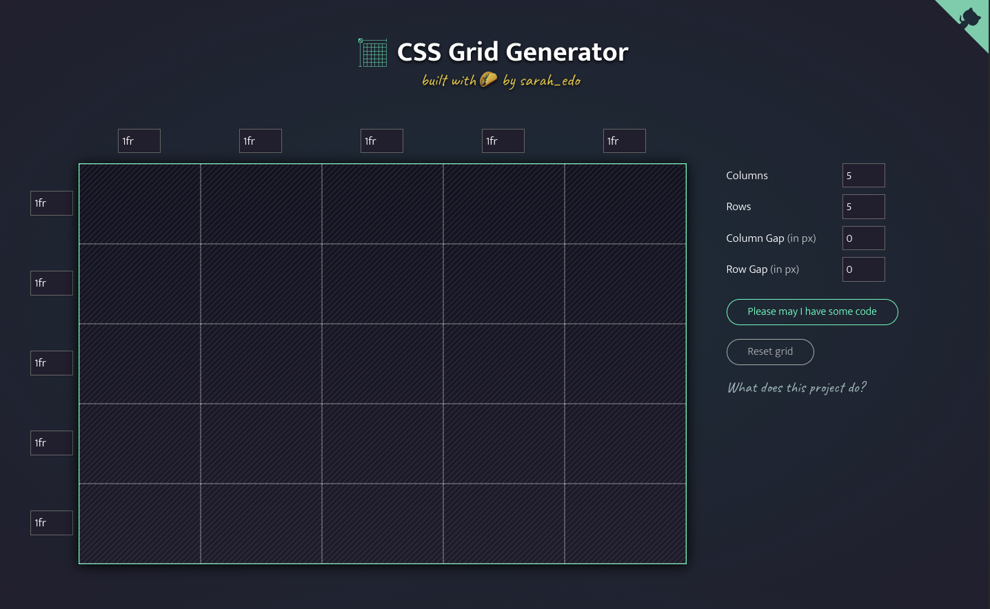 CSS Grid Generator by Sarah Drasner