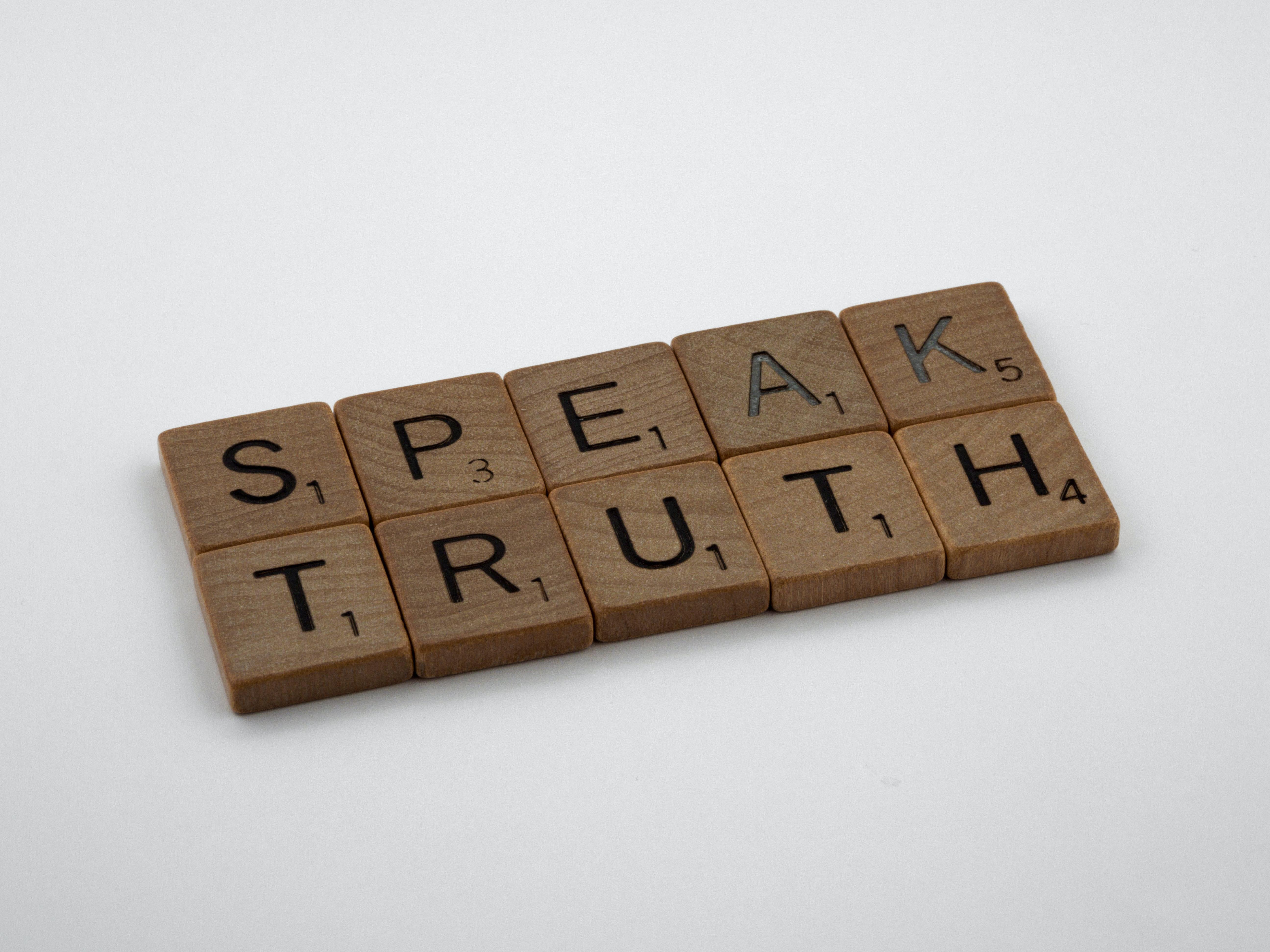 'Speak truth'