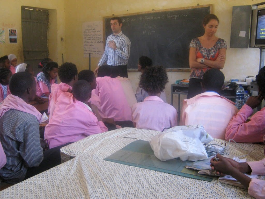 UK teachers visit link schools in Ethiopia