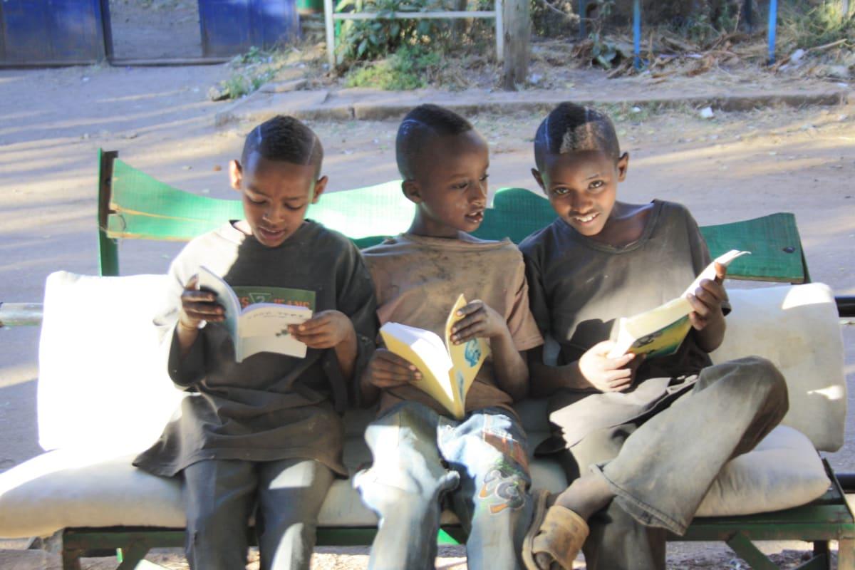 A Gondar university graduate creates outdoor reading space - Link