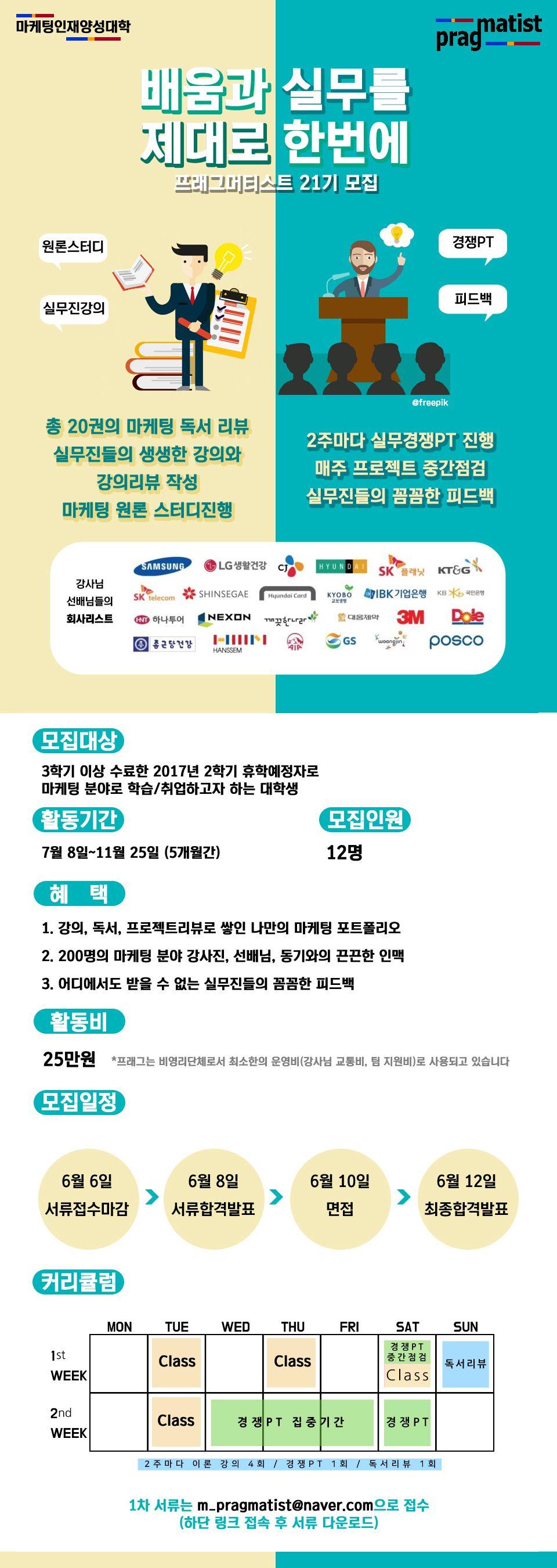 마케팅인재양성대학 프래그머티스트 21기 모집