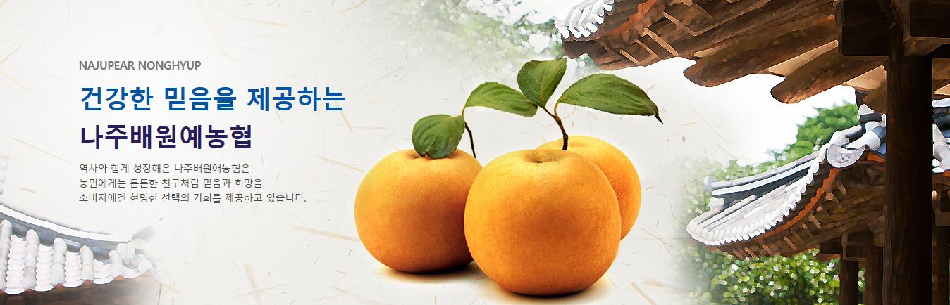 나주배원예농협 배신품종포장재 브랜드 개발 공모 모집