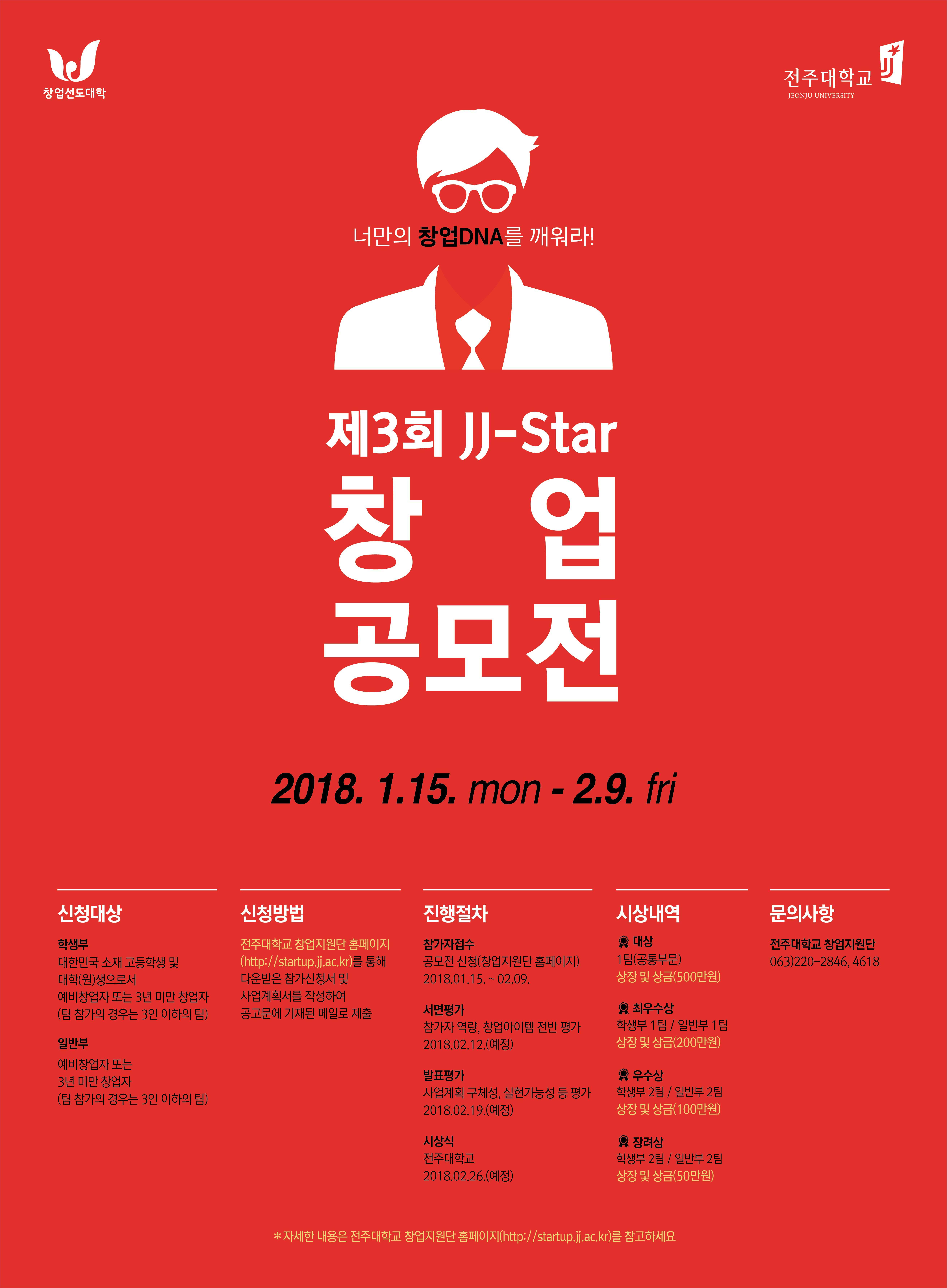 [전주대학교 창원지원단] JJ-Star 창업 공모전