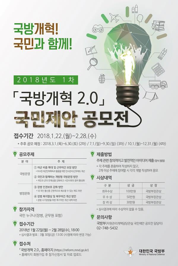 [국방부] 국방개혁 2.0 국민제안 공모전