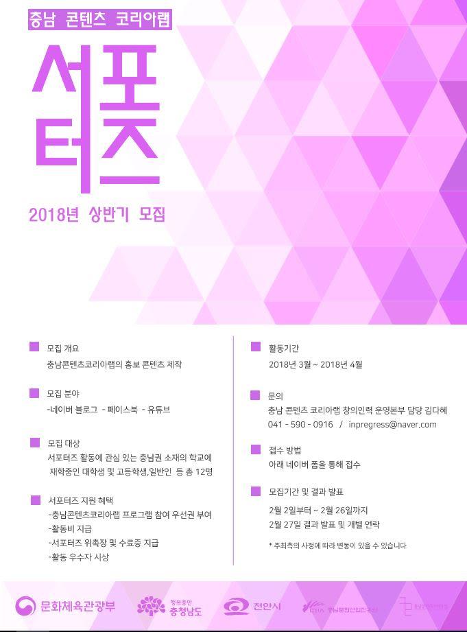 2018 충남콘텐츠코리아랩 홍보 콘텐츠 서포터즈