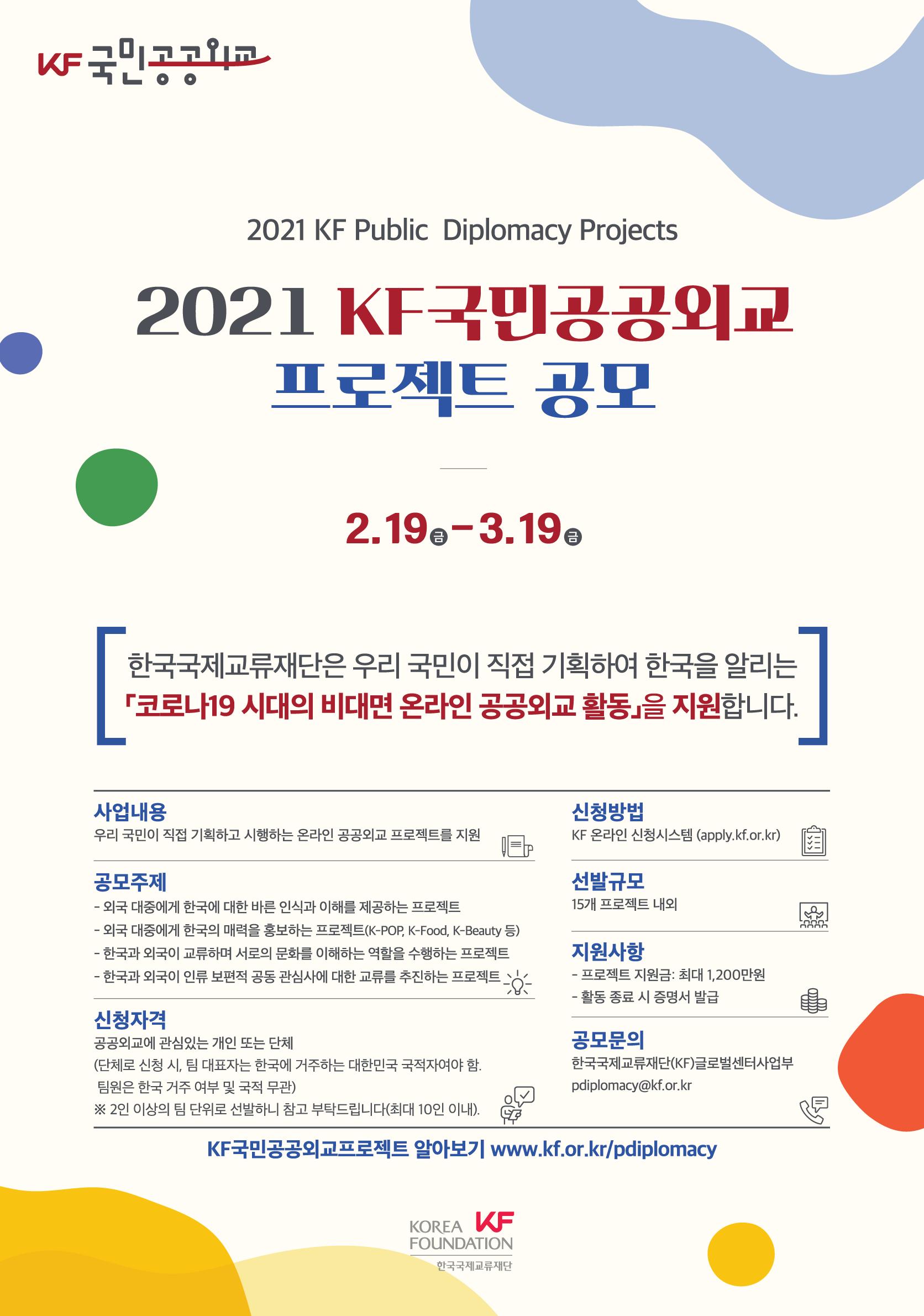 2021 KF 국민공공외교 프로젝트 공모