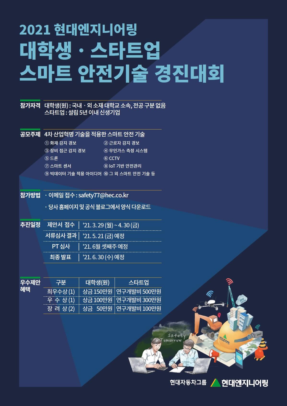 현대엔지니어링 스마트 안전기술 경진대회