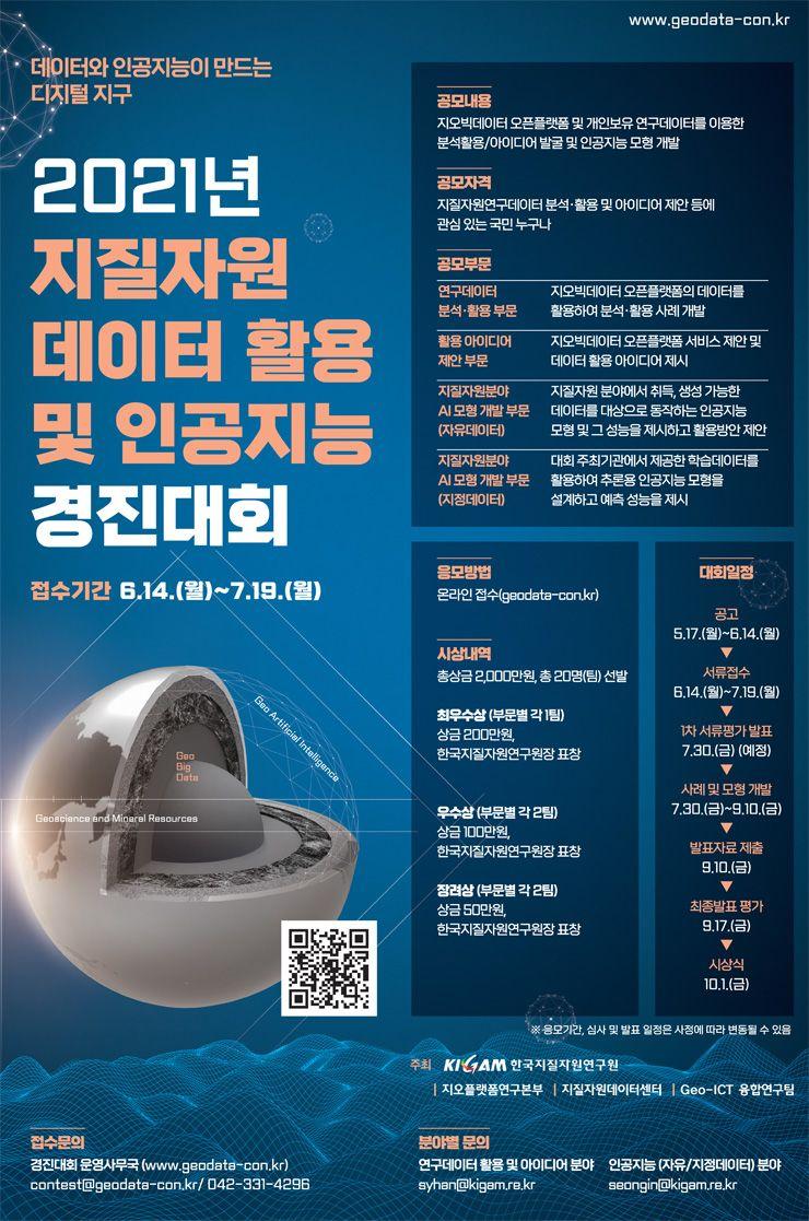 2021년 지질자원 데이터 활용 및 인공지능 경진대회