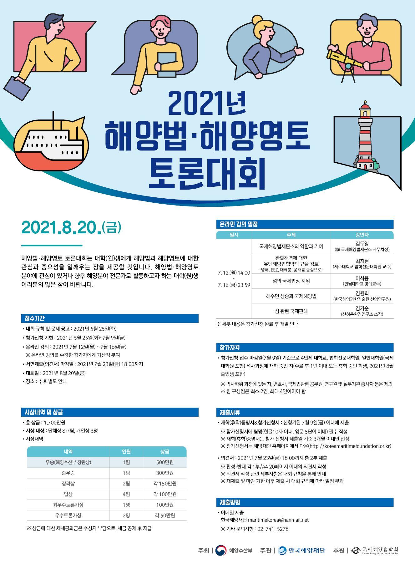 2021년 해양법·해양영토 토론대회 개최