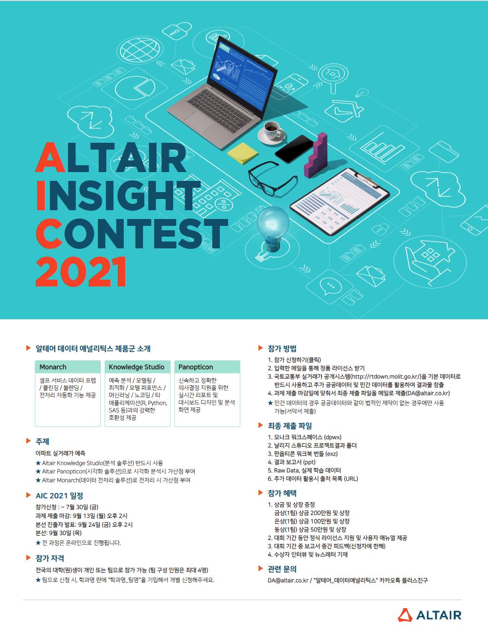 한국알테어_ALTAIR INSIGHT CONTEST (AIC 2021)