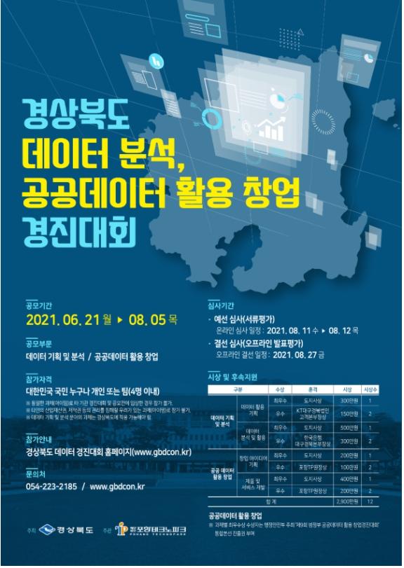 2021 경상북도 데이터 분석, 공공데이터 활용 창업 경진대회