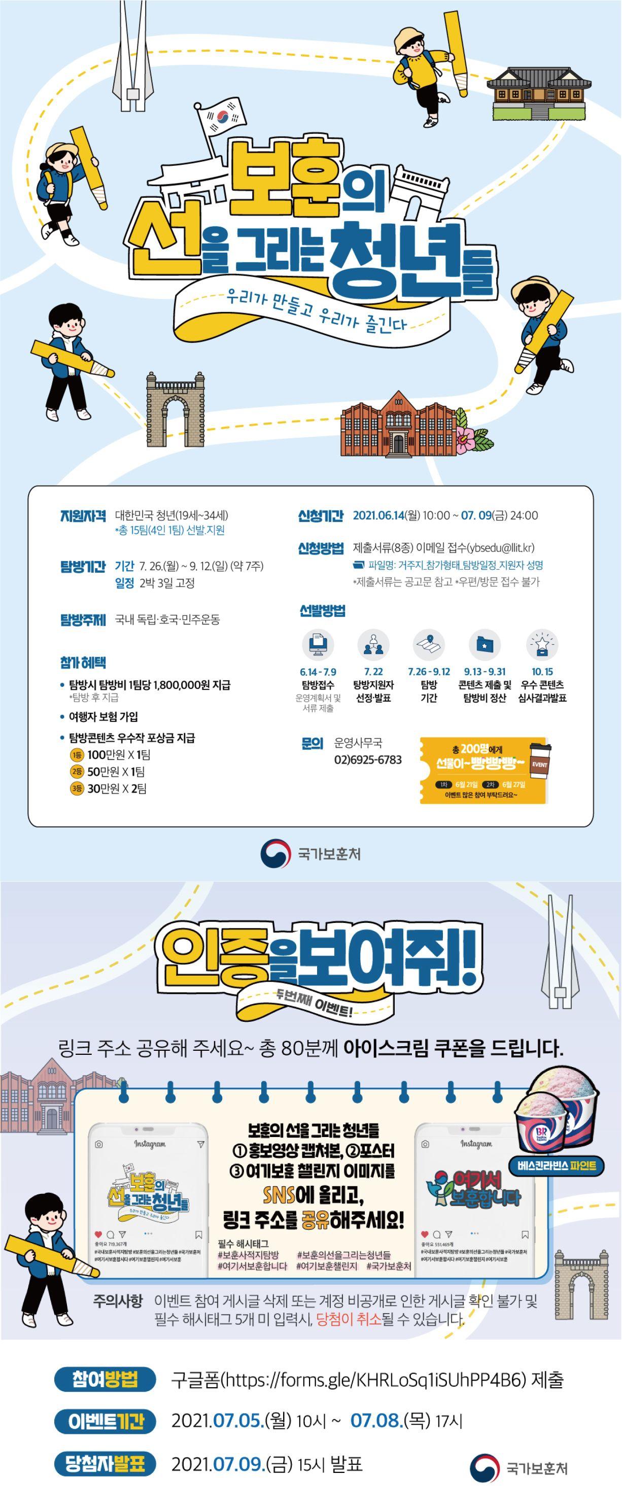 [국가보훈처] 2021 국내보훈사적지 탐방 <보훈의 선을 그리는 청년들>