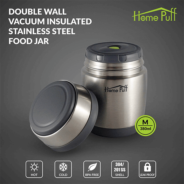Home Puff Double Wall Vacuum Insulated Stainless Steel Food Jar 1
