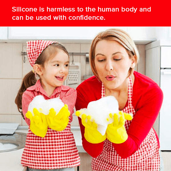Buy Silicone Hand Gloves For Dishwashing And Cleaning
