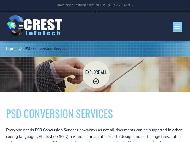 PSD Conversion Services | PSD to HTML,HTML5,WordPress