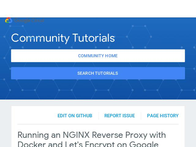 Running an NGINX Reverse Proxy with Docker and Let's Encrypt