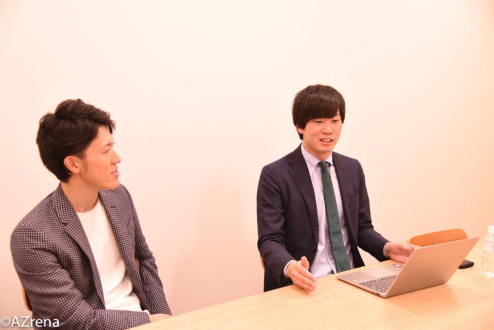 塩田元規氏と菊地優斗氏
