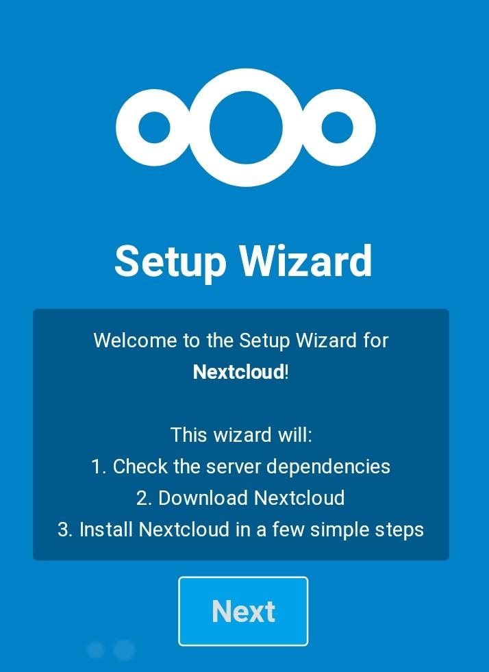 NextCloud初始化页面