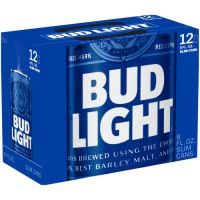 BUD LIGHT 12 OZ BEER 1 Pack