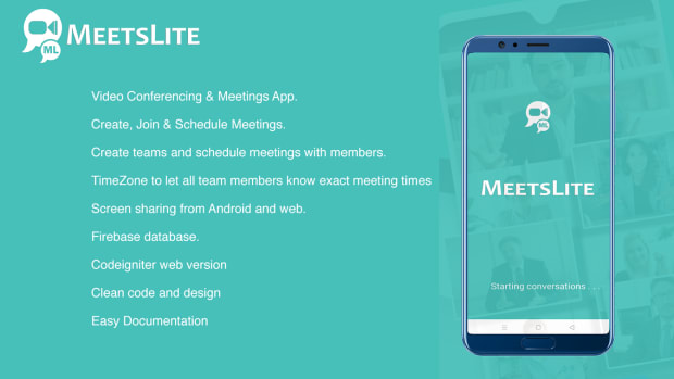 MeetsLite Video Conferencing and Video Sharing Solution Android, iOS, WEB & Windows, Mac, Linux - 1