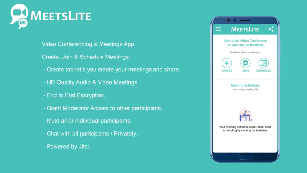 MeetsLite Video Conferencing and Video Sharing Solution Android, iOS, WEB & Windows, Mac, Linux - 2