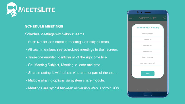 MeetsLite Video Conferencing and Video Sharing Solution Android, iOS, WEB & Windows, Mac, Linux - 5