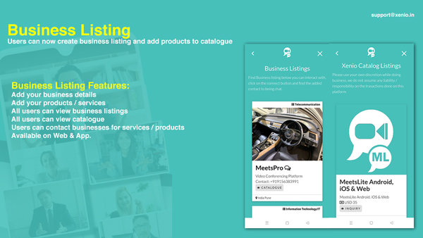 MeetsPro Android, iOS and Web - Realtime Chat, Video Calls & Video Conferences - 2
