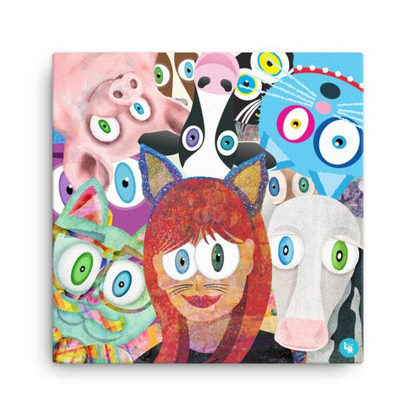 """LisetteArt Group Selfie"" Canvas Print"