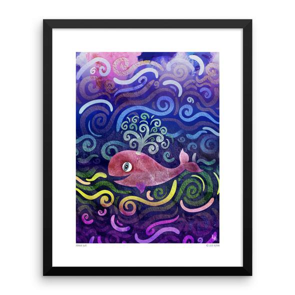 """Midnight Swim"" Framed Art Print"
