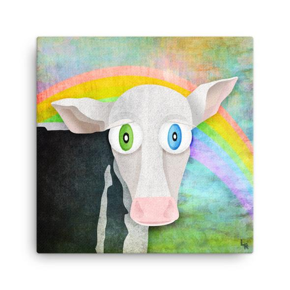 """""""The Cow Who Freed Himself"""" Canvas Print"""