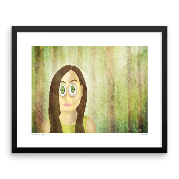 """Woods Series - Girl Portrait"" Framed Art Print"