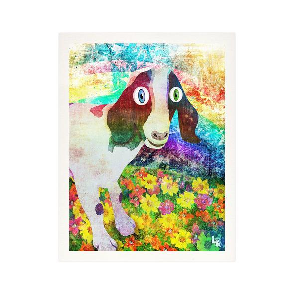 """Happy Goat"" Fine Art Print"